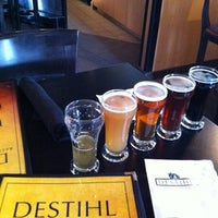 Photo taken at Destihl Restaurant & Brew Works by Jason W. on 4/6/2011
