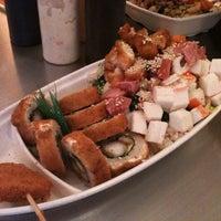 Photo taken at Sushi Hokō-Ki by Hector C. on 9/8/2012