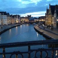 Photo taken at Sint-Michielsbrug by Larry T. on 4/18/2012