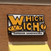 Photo taken at Which Wich? Superior Sandwiches by Barbara K. on 7/27/2012