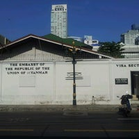 Photo taken at Embassy of the Republic of the Union of Myanmar by kikkii c. on 3/14/2012