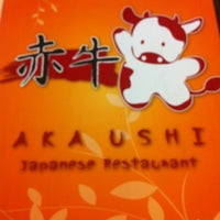 Photo taken at AKA USHI - Japanese Grill & Sushi by Anne A. on 7/9/2012