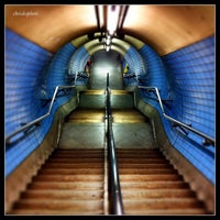 Photo taken at Embankment London Underground Station by Chris K. on 8/16/2012