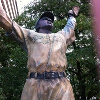 Photo taken at Jackie Robinson Statue by Stranger D. on 8/18/2011