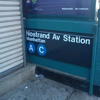 Photo taken at MTA Subway - Nostrand Ave (A/C) by Stevenson M. on 4/16/2012