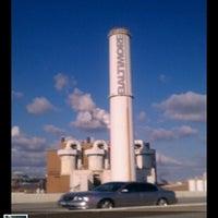 Photo taken at Baltimore BRESCO Smokestack / Wheelabrator Incinerator by NaturallyMe on 4/8/2012