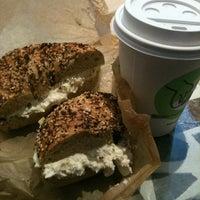 Photo taken at Brooklyn Bagel & Coffee Co. by Amanda M. on 10/1/2011