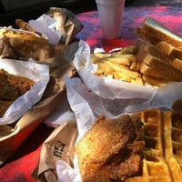 Photo taken at Big Mamas Chicken & Waffles by Y H. on 8/10/2012
