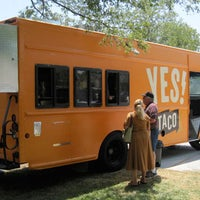 Photo taken at YES! Taco at SiNaCa Studios by CBS Local on 11/1/2011