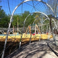 Photo taken at Woodland Discovery Playground @ Shelby Farms by Kerry C. on 4/12/2011