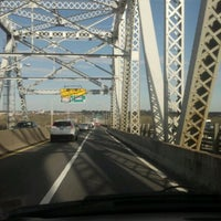 Photo taken at Outerbridge Crossing by Robin M. on 4/3/2012