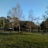Photo taken at Pan Pacific Park by Sasha M. on 3/8/2012
