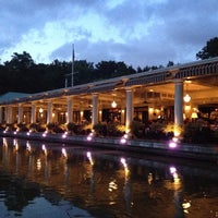 Photo taken at Central Park Boathouse by Elif on 8/15/2012