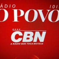Photo taken at Rádio O POVO CBN Fortaleza FM 95.5 by Taziane A. on 7/12/2012
