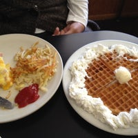 Photo taken at Red Hut Waffle Shop by Charles C. on 4/19/2012