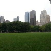 Photo taken at Heckscher Field by Dwiddy M. on 7/19/2012