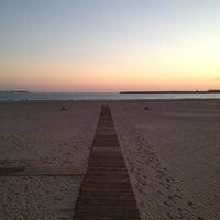 Photo taken at Playa de Valdelagrana by Aviejo00 on 6/13/2012