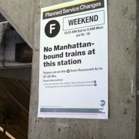 Photo taken at MTA Subway - Roosevelt Island (F) by Roland L. on 9/30/2011