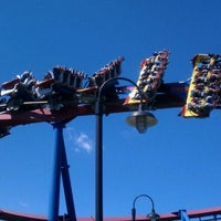 Photo taken at Superman: Ultimate Flight by Chad T. on 8/25/2011