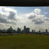 Photo taken at Marina Barrage by Doris C. on 7/6/2012