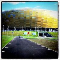Photo taken at Stadion Energa Gdańsk by Jaroslaw M. on 8/7/2011