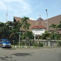 Photo taken at Gereja Katolik Redemptor Mundi by Yuliana L. on 3/25/2012