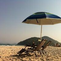 Photo taken at Praia Itamambuca by Maria Fernanda M. on 9/9/2012