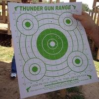 Photo taken at Thunder Gun Range by Amy S. on 8/25/2012