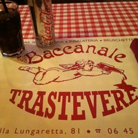 Photo taken at Baccanale Trastevere by Carmen G. on 11/10/2011