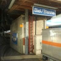 Photo taken at Bahnhof Biel / Gare de Bienne by Ruben S. on 1/22/2012