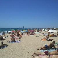 Photo taken at Platja del Pla de Montgat by Raul G. on 6/16/2012