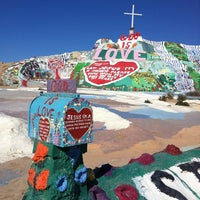 Photo taken at Salvation Mountain by Alex F. on 4/27/2011