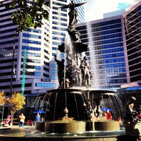 Photo taken at Fountain Square by Douglas H. on 9/9/2012