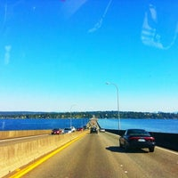 Photo taken at Evergreen Point Floating Bridge by Rachel S (. on 9/9/2011