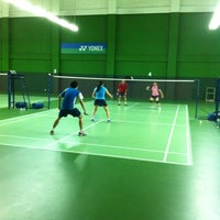 Photo taken at BJGCR Badminton Court by Edvin L. on 7/10/2012