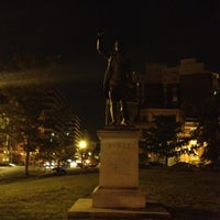 Photo taken at Edmund Burke Statue by Thomas H. on 9/2/2012