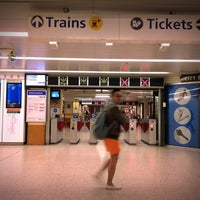 Photo taken at Wynyard Station (Main Concourse) by R L. on 8/28/2012