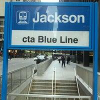 Photo taken at CTA - Jackson (Blue) by Hugo S. on 5/8/2012