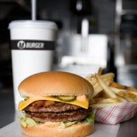 Photo taken at M Burger by Dave M. on 7/22/2012