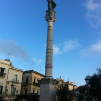 Photo taken at Colonna di Sant'Oronzo by Rossano S. on 4/7/2012