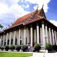 Photo taken at Wat Debsirin by Stephen Q. on 1/11/2012