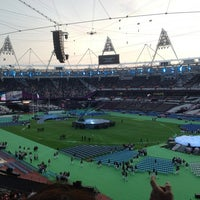 Photo taken at London Stadium by Justin L. on 9/9/2012