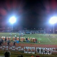 Photo taken at MHS Football Field by Marsha K. on 10/29/2011
