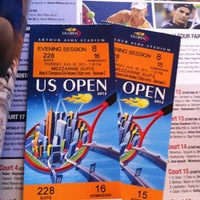 Photo taken at President's Gate - US Open by Rob L. on 8/30/2012