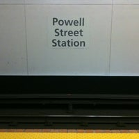 Photo taken at Powell St. BART Station by T.J. P. on 1/15/2011