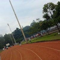Photo taken at Sasana Olahraga Ganesha (Saraga) by Curio L. on 11/4/2011