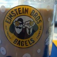 Photo taken at Einstein Bros Bagels by Shelby P. on 10/28/2011
