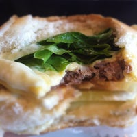 Photo taken at Milk & Mellow Burgers by Pedro N. on 3/9/2012