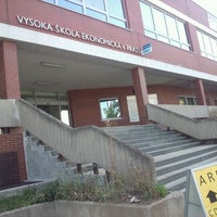 Photo taken at University of Economics by Hiroshi S. on 8/20/2012