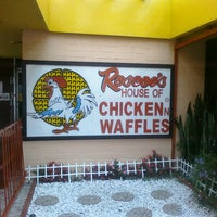 Photo taken at Roscoe's House of Chicken and Waffles by Angie B. on 9/17/2011